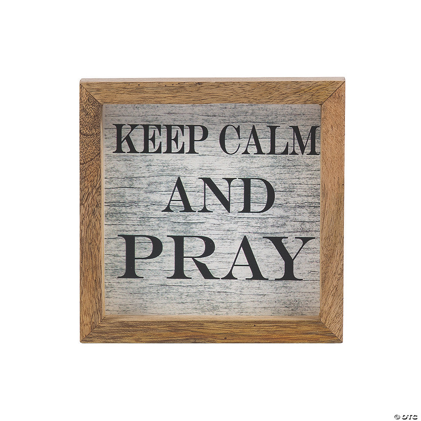 Mini Keep Calm & Pray Tabletop Sign Audio Thumbnail