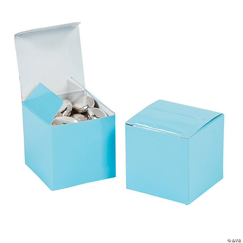 Mini Light Blue Favor Boxes