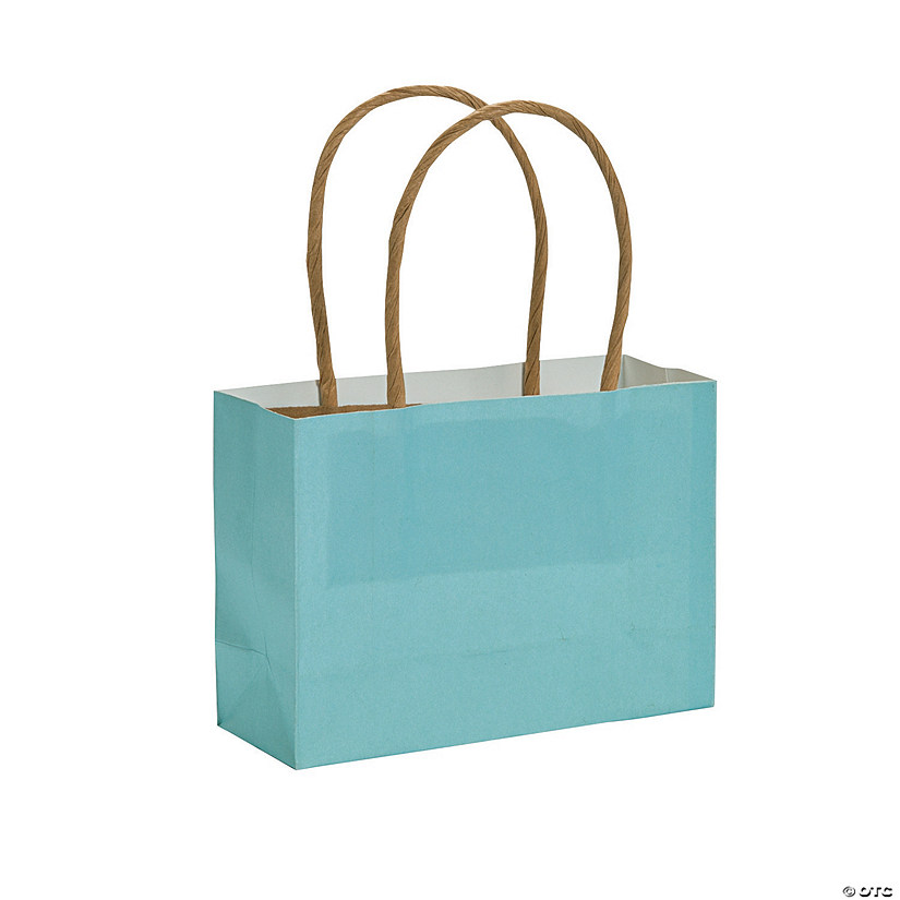 Mini Light Blue Kraft Paper Gift Bags Audio Thumbnail