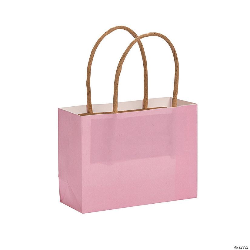 d4ac65a3 Mini Light Pink Kraft Paper Gift Bags | Oriental Trading
