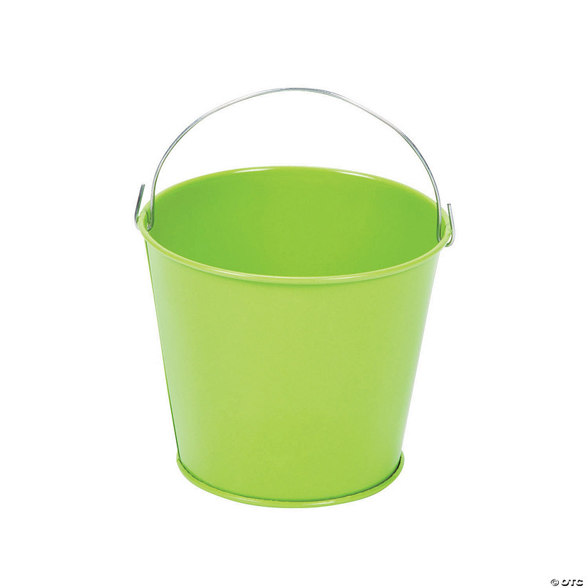 Mini Lime Green Favor Pails
