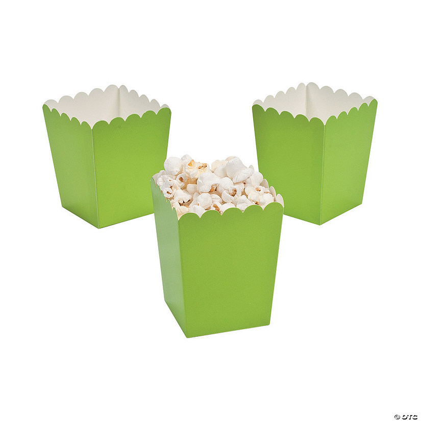 Mini Lime Green Popcorn Boxes