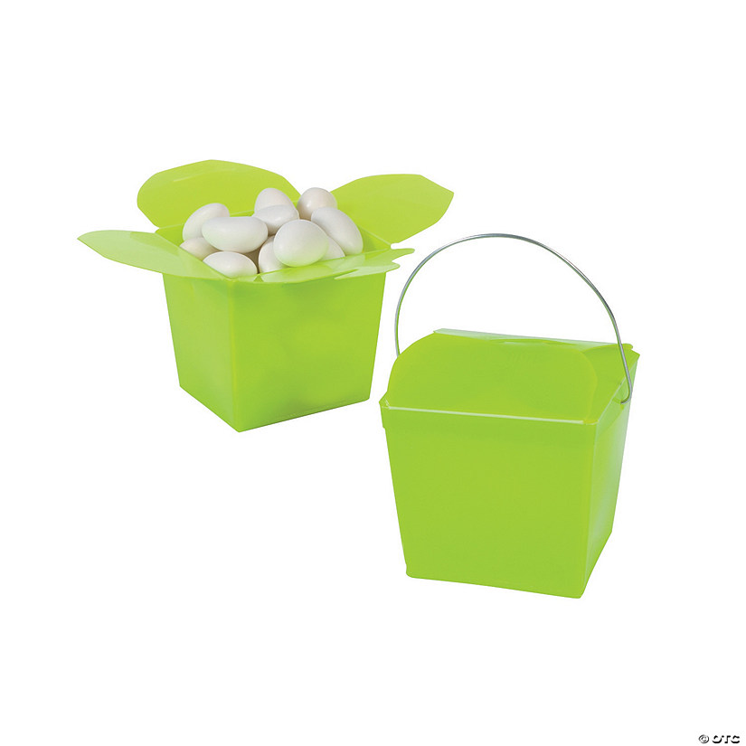 Mini Lime Green Takeout Boxes
