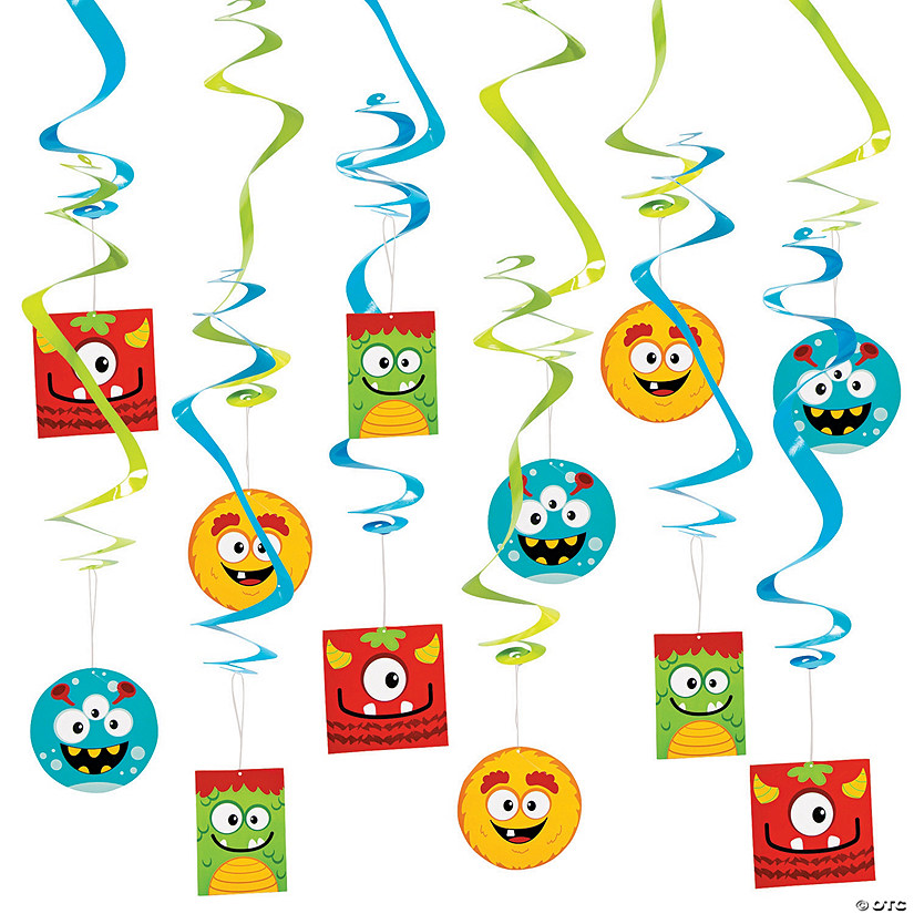Mini Monster Swirl Decorations - 12 Pc. Audio Thumbnail