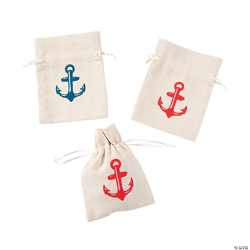 Mini Nautical Canvas Drawstring Treat Bags Audio Thumbnail