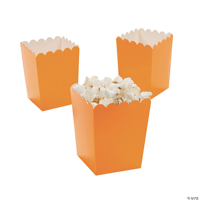 Mini Orange Popcorn Boxes