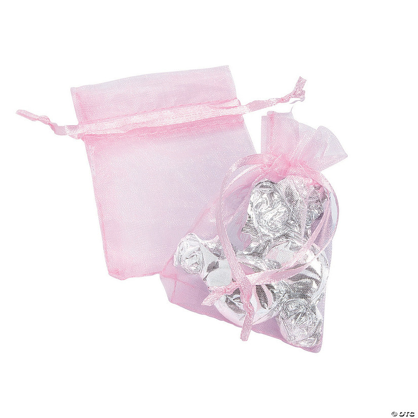 Mini Pink Pastel Organza Drawstring Treat Bags Audio Thumbnail