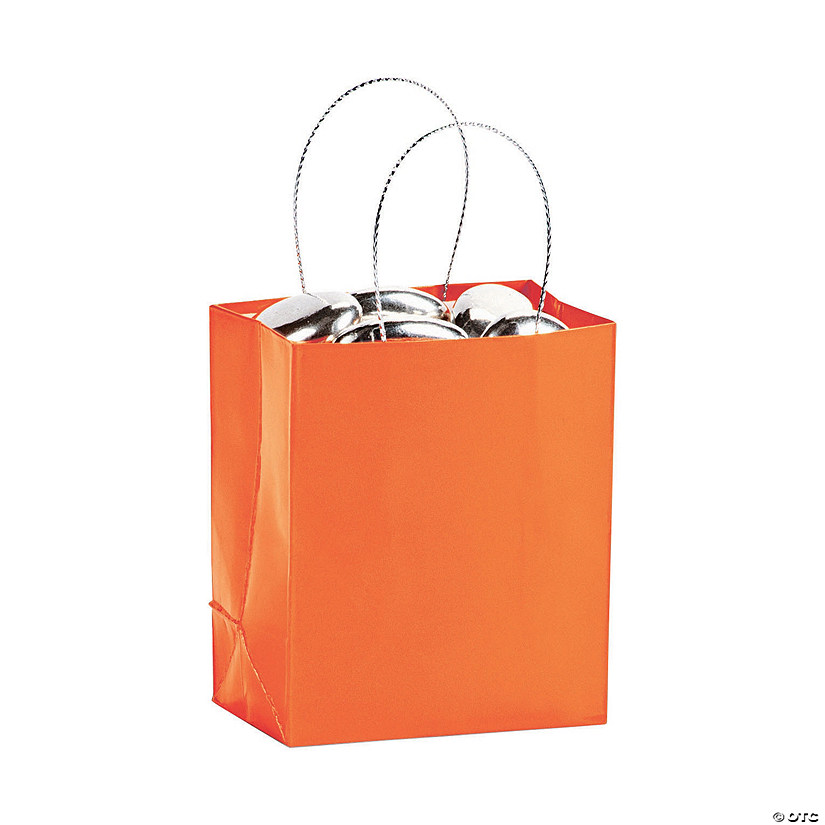 Mini Pumpkin Orange Gift Bags