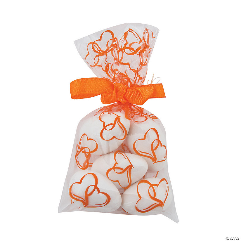 Mini Pumpkin Two Hearts Cellophane Bags