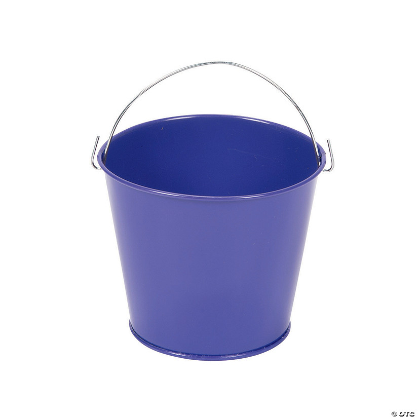 Mini Purple Favor Pails