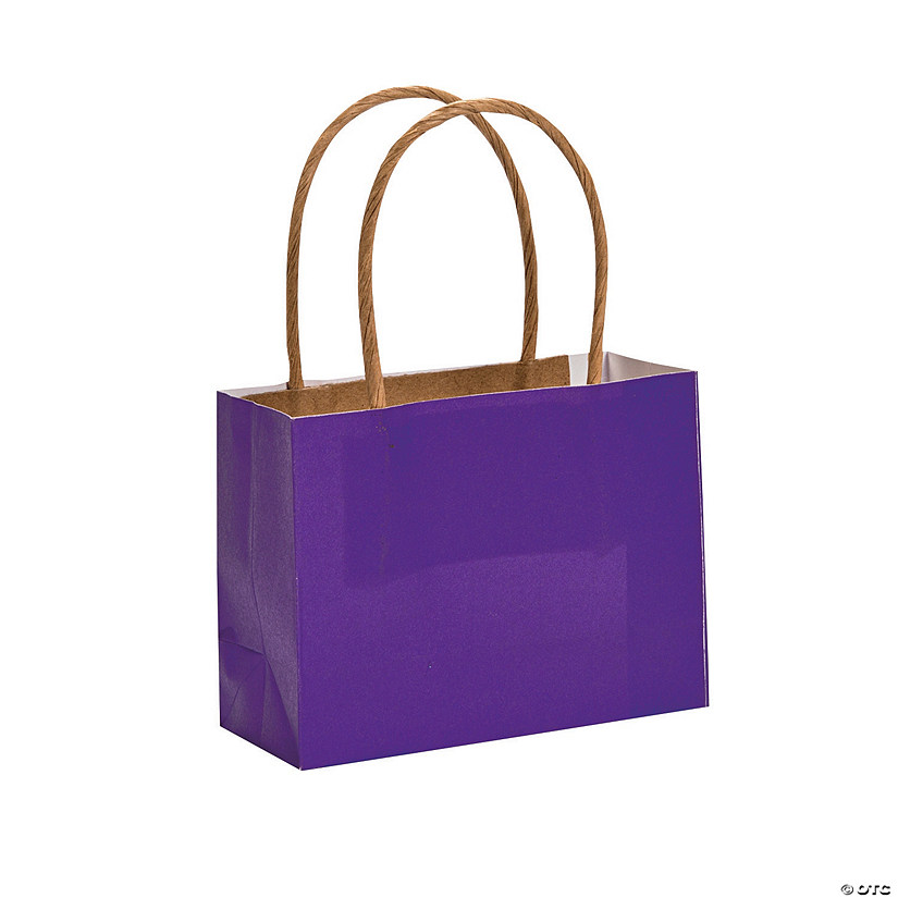 Mini Purple Kraft Paper Gift Bags Audio Thumbnail