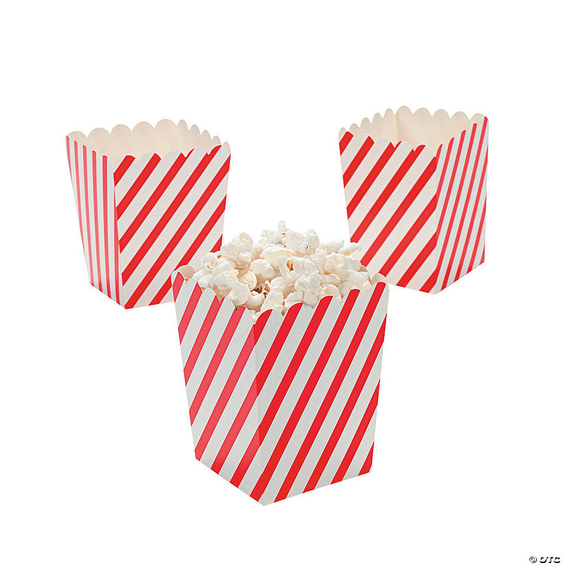 Mini Red & White Striped Popcorn Boxes Audio Thumbnail