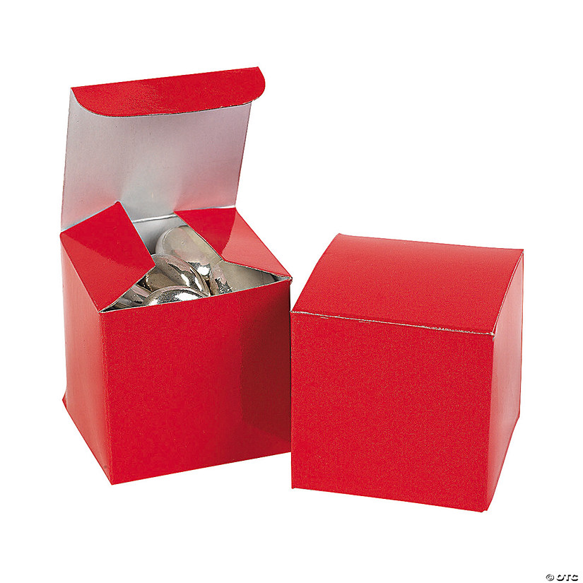 Mini Red Favor Boxes Image Thumbnail