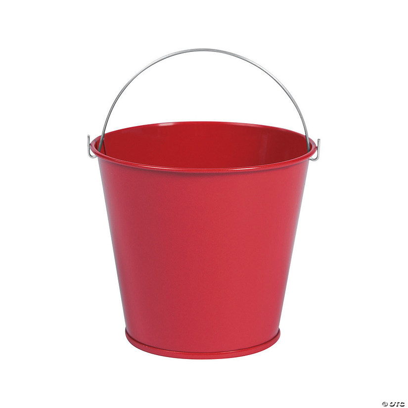 Mini Red Favor Pails Image Thumbnail