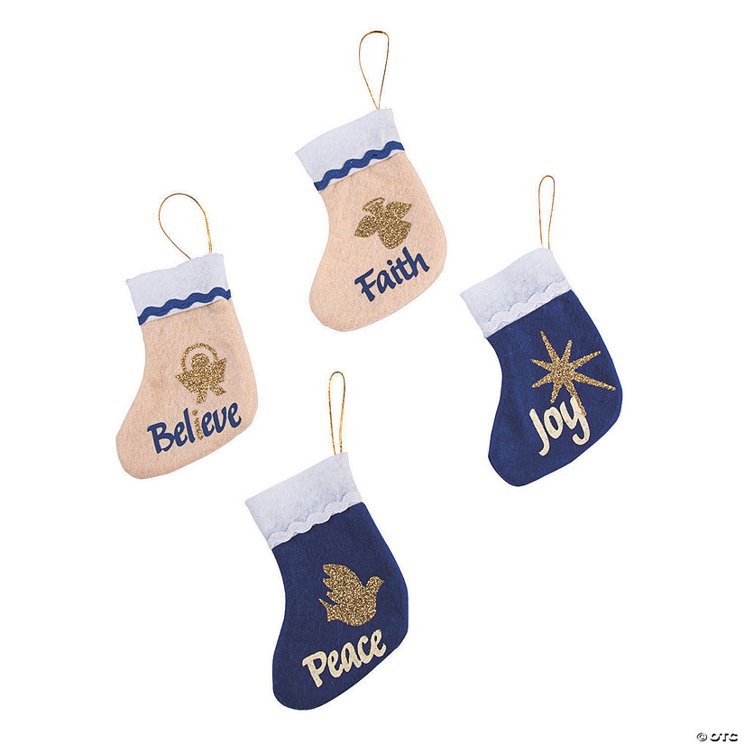 Mini Religious Christmas Stockings Ornaments Image Thumbnail