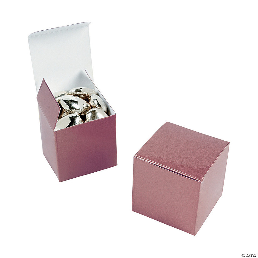 Mini Rose Gold Favor Boxes
