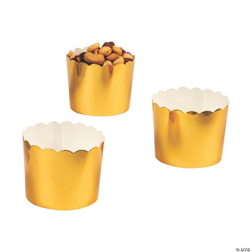 Mini Scalloped Gold Snack Containers Audio Thumbnail