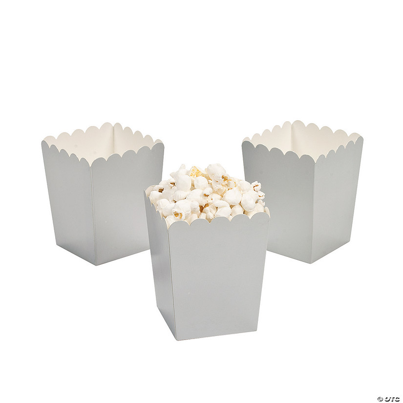 Mini Silver Popcorn Boxes Audio Thumbnail
