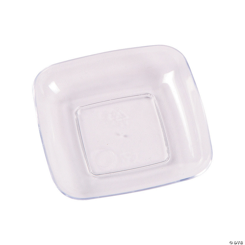 Mini Square Plastic Dessert Plates Audio Thumbnail
