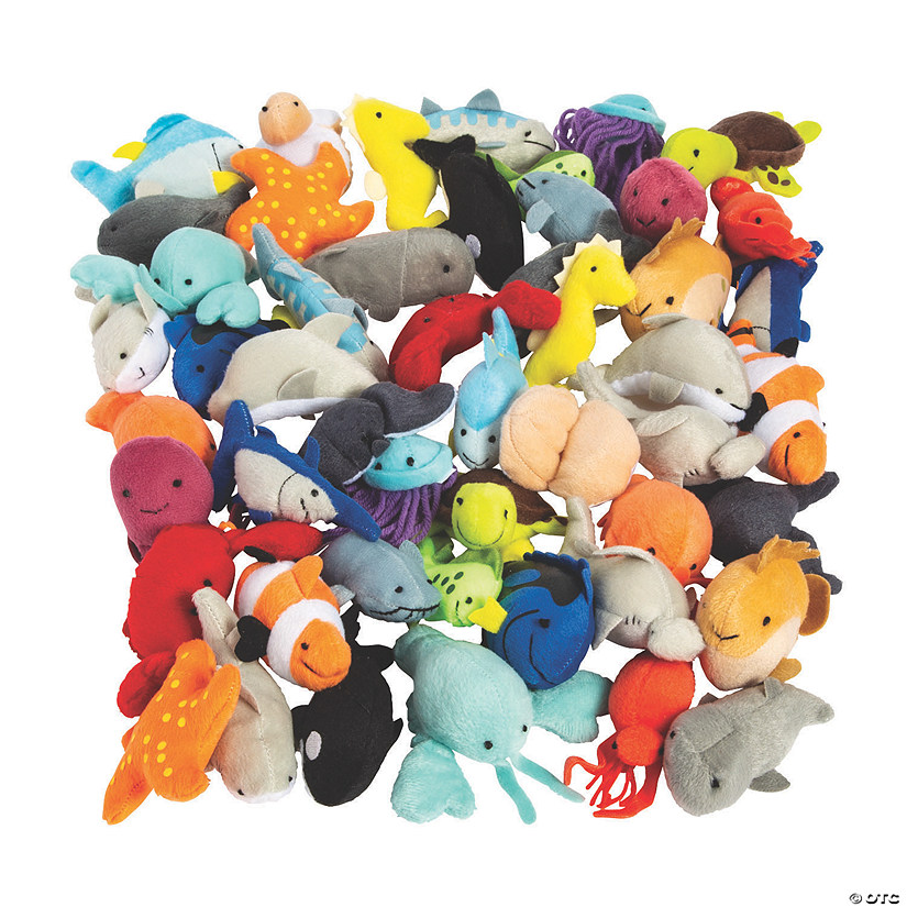 Mini Stuffed Animal Sea Life Assortment Image Thumbnail