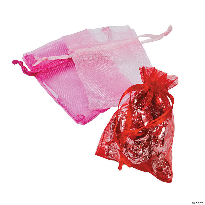 Mini Valentine Organza Treat Bags