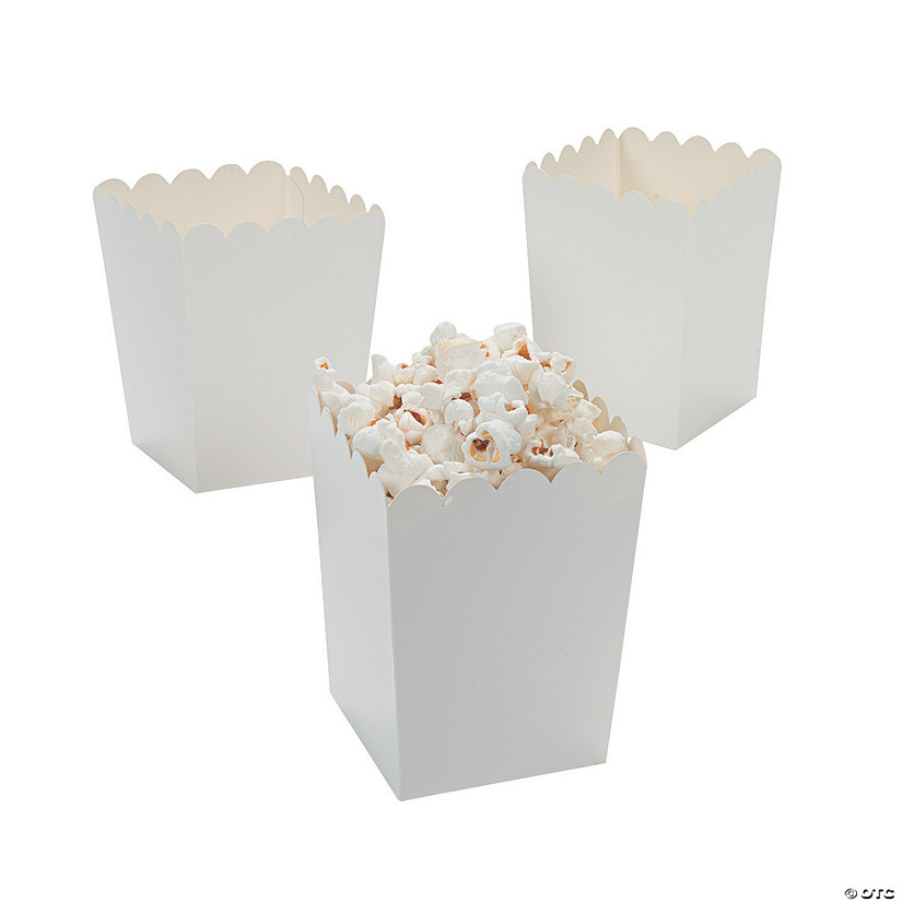 Mini White Popcorn Boxes Audio Thumbnail