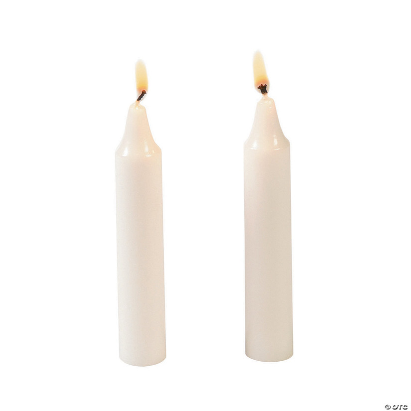 Mini White Taper Candles