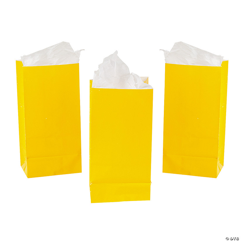 Mini Yellow Treat Bags Image Thumbnail