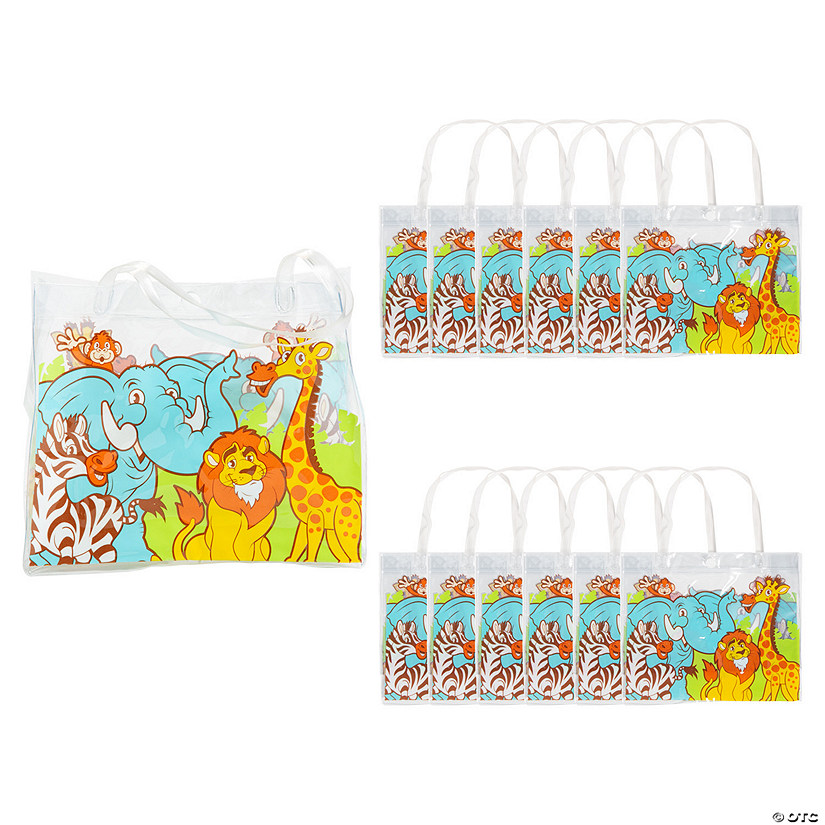 Mini Zoo Animal Clear Tote Bags Image Thumbnail