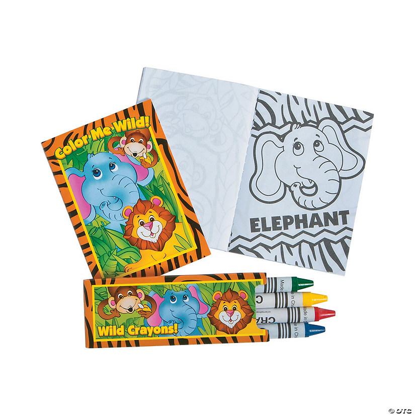 Mini Zoo Animal Coloring Sets