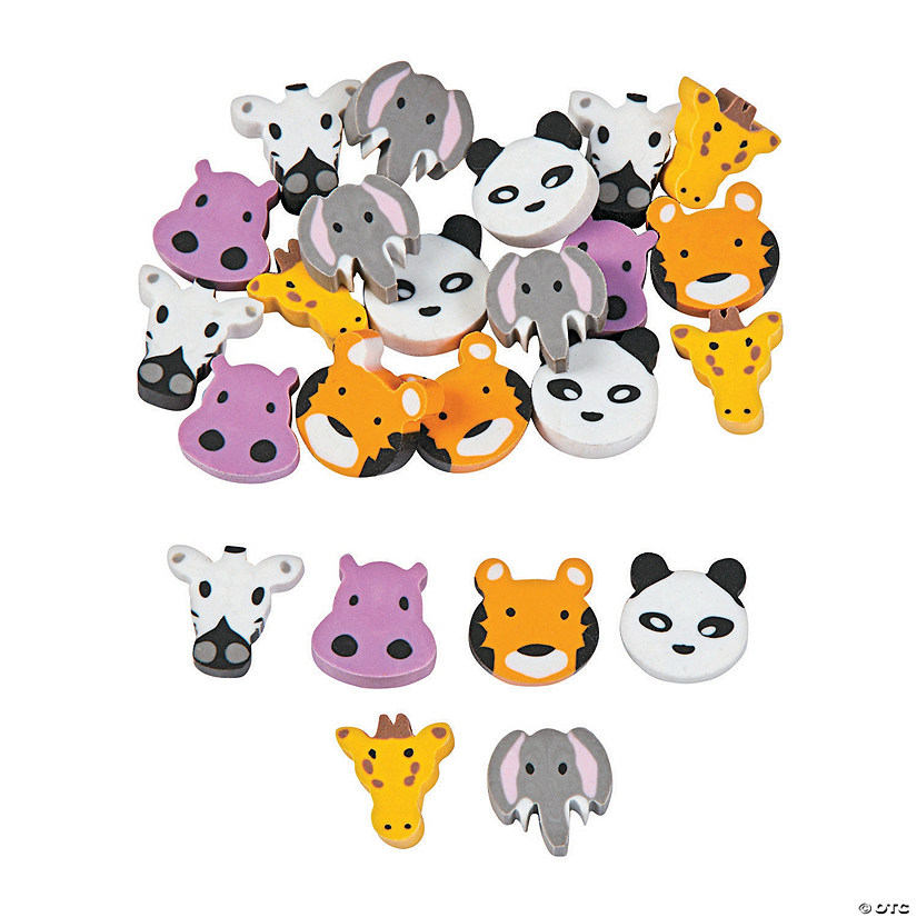 Mini Zoo Animals Erasers