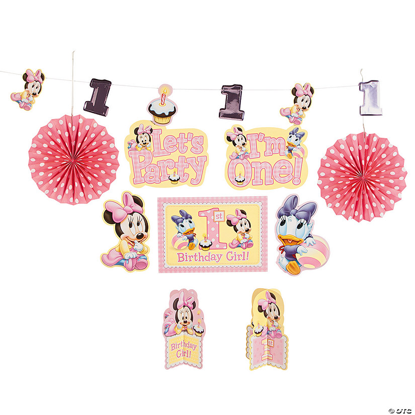 Brilliant Minnie Mouse 1St Birthday Room Decorating Kit Discontinued Best Image Libraries Sapebelowcountryjoecom