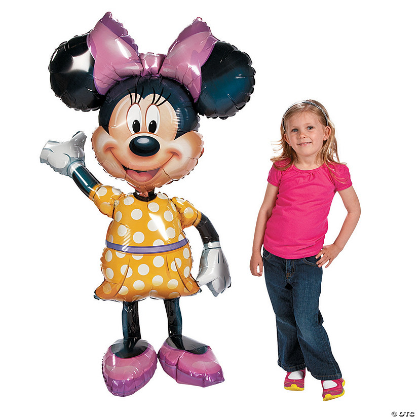 "Minnie Mouse AirWalkers® 54"" Mylar Balloon Image Thumbnail"