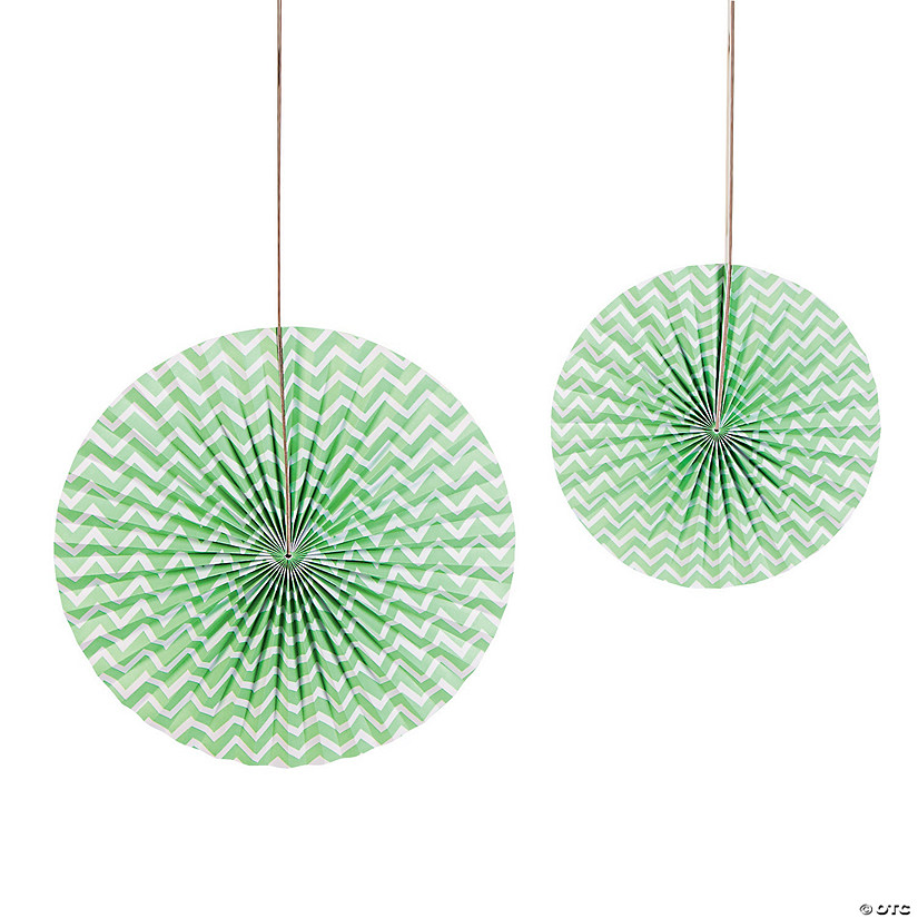 Mint Green Chevron Hanging Fans Audio Thumbnail