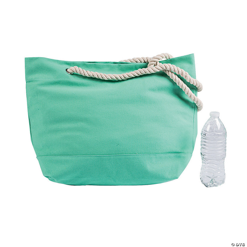 Mint Green Cotton Tote with Rope Handles Audio Thumbnail