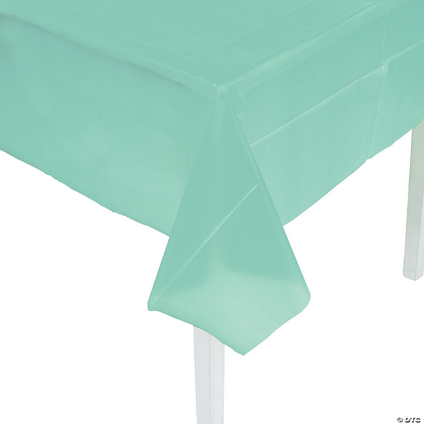 Mint Green Plastic Tablecloth Audio Thumbnail