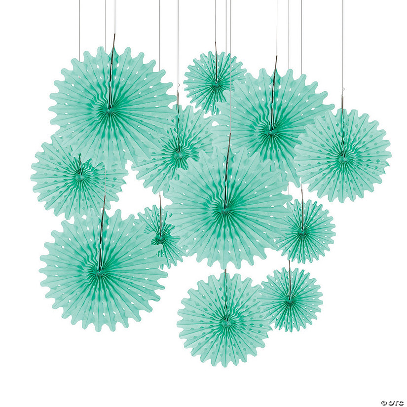 Mint Green Tissue Hanging Fans Audio Thumbnail