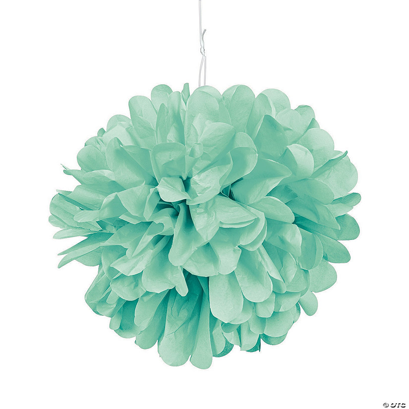 Mint Green Tissue Pom-Poms