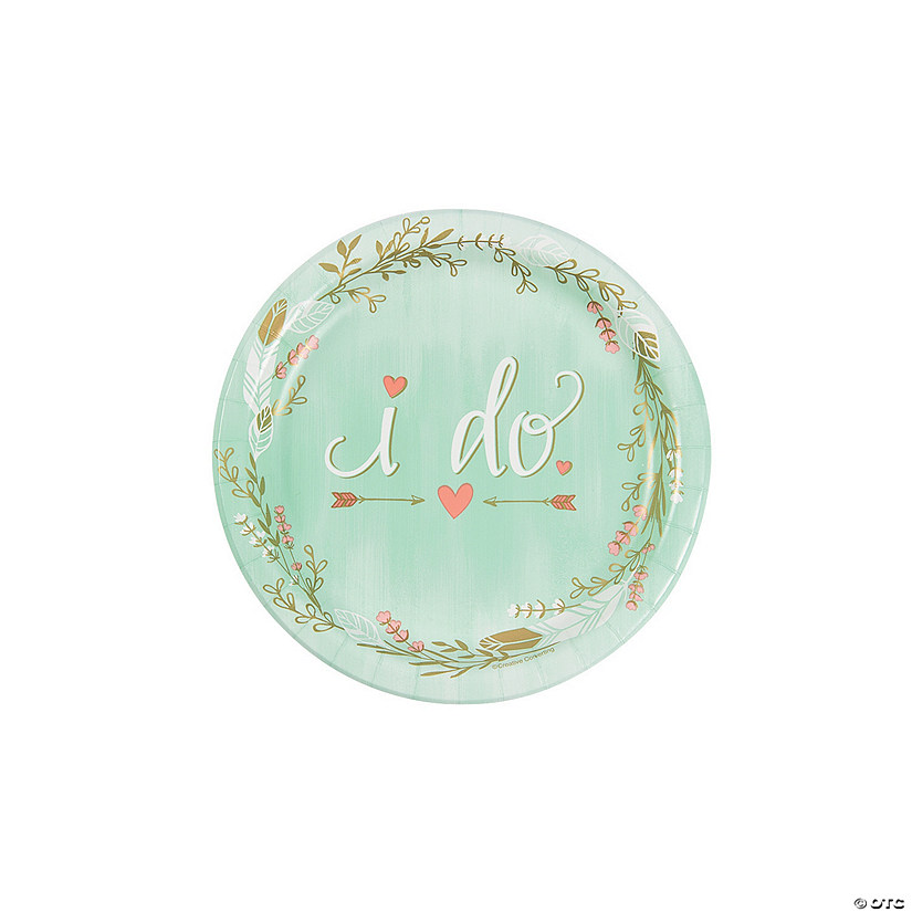 Mint I Do Paper Dessert Plates Audio Thumbnail