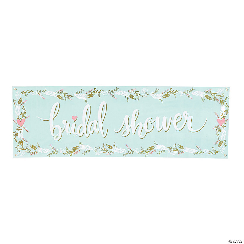 Mint To Be Bridal Shower Plastic Banner