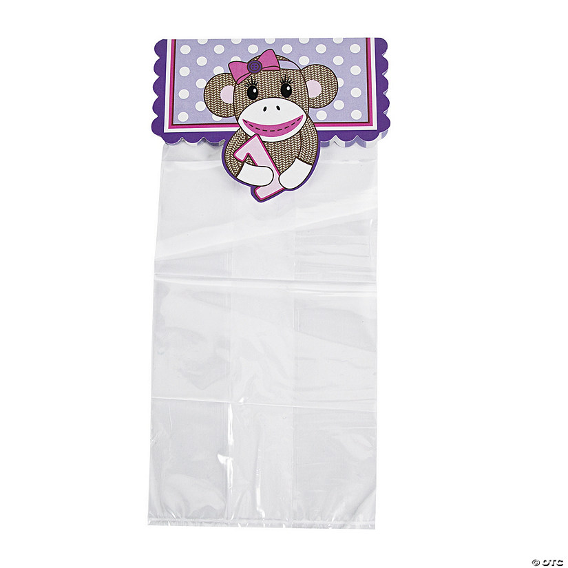 Miss Sock Monkey Cellophane Bags with Header Audio Thumbnail