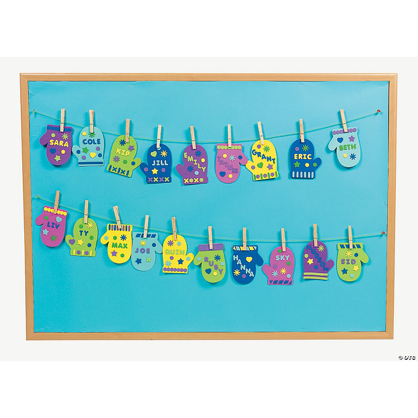 Mitten Bulletin Board Classroom Craft Kit Discontinued