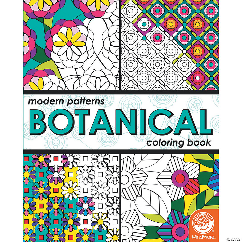 Modern Patterns Botanical Coloring Book Image Thumbnail