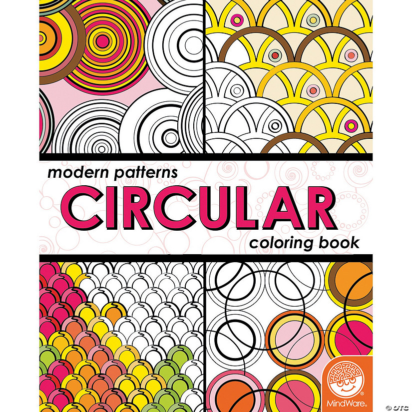 Modern Patterns Circular Coloring Book Image Thumbnail