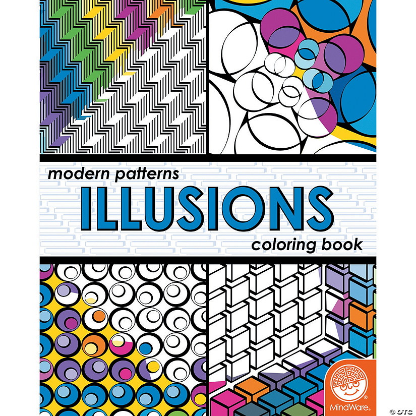 Modern Patterns Illusions Coloring Book Image Thumbnail