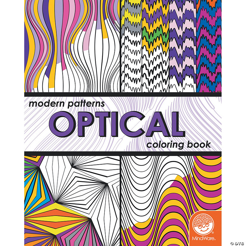Modern Patterns Optical Coloring Book Image Thumbnail