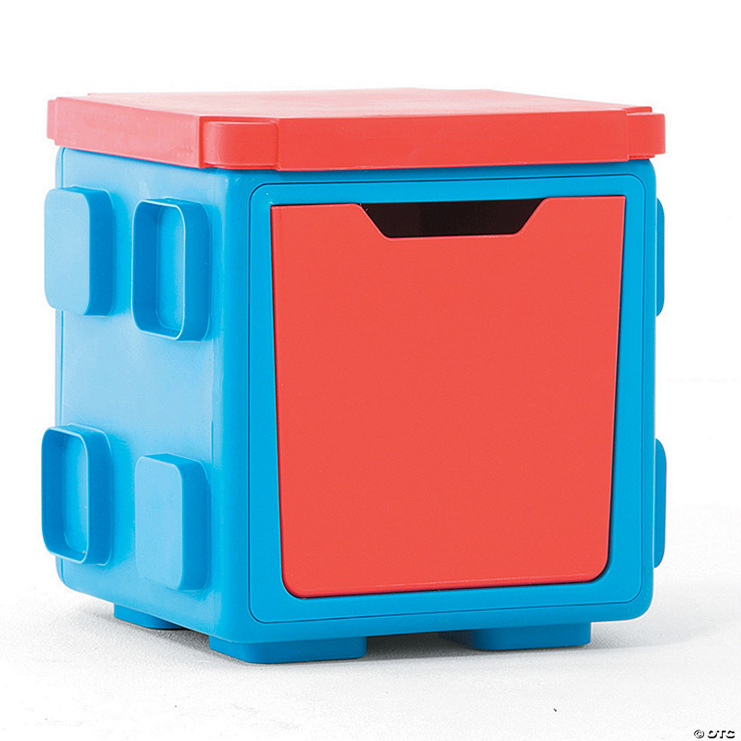 Modular Toy Storage Box Top: Blue/Red