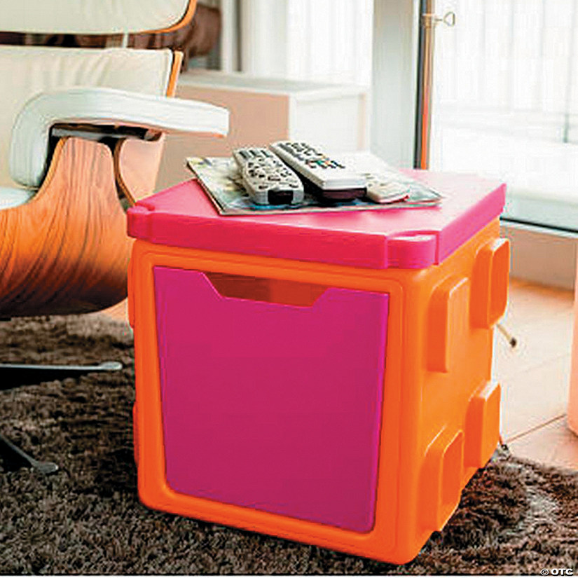 Modular Toy Storage Box Top: Orange/Pink