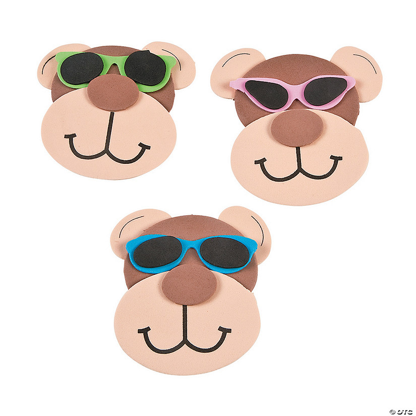 Monkey Magnet with Sunglasses Craft Kit