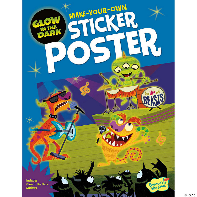 Monster Rock Show Poster Sticker Activity Book Audio Thumbnail